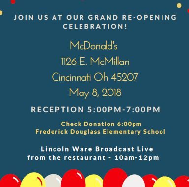 McDonald's Grand Re-Opening
